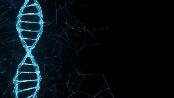 Absztrakt mozgás háttér - digitális Plexus DNS molekula 4k hurok