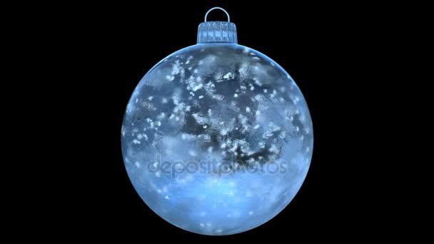 Új év kék jég pohár csecsebecse Karácsonyfája hó alfa Matt hurok 4k