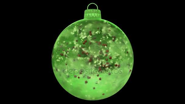 Vánoční nový rok Green Ice skleněná cetka dekorace červené koulí alfa matný smyčka