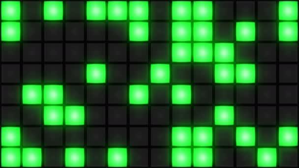 Zöld Disco szórakozóhely tánc padló fal izzó fényrács háttér vj hurok