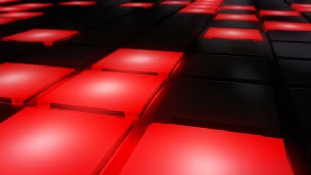Piros Disco szórakozóhely tánc padló fal izzó fényrács háttér vj hurok