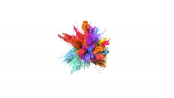 Color Burst - barevné oranžové azurová kouře exploze částice kapaliny Alfa podkladu