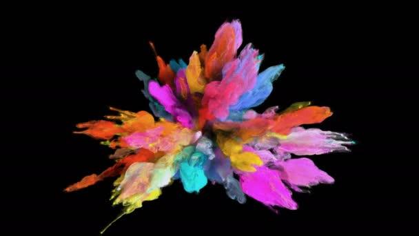 Színes robbanás - színes füst robbanás folyadék részecskék alfa-Matt