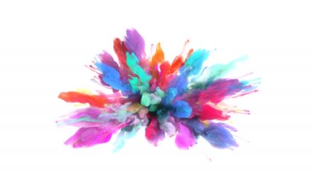 Color Burst - barevné kouře exploze částice kapaliny Alfa podkladu