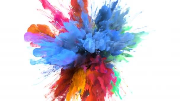 Color Burst - colorful blue pink smoke explosion fluid particles alpha matte