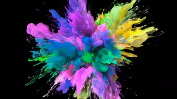 Color Burst - barevné žluté růžového kouře exploze částice kapaliny Alfa podkladu