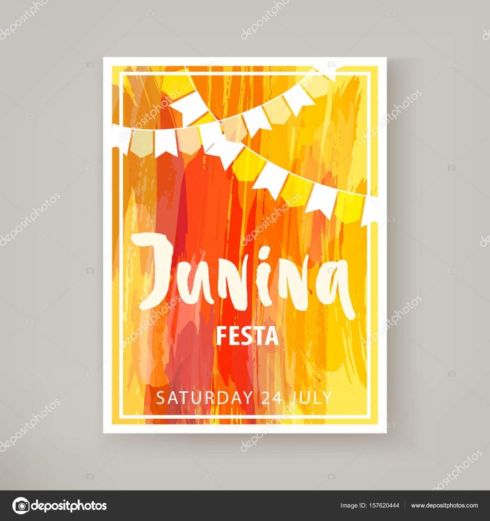 Junina Festa Flyer Stock Vector Deuzna 157620444