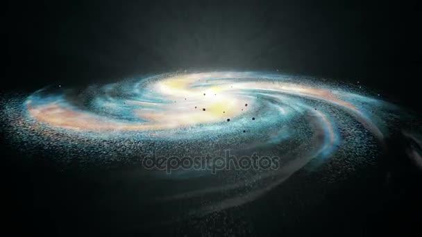 Rotující spirální galaxie - vesmíru