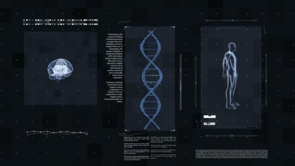 Medical futuristic interface.