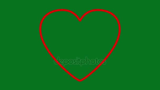 Valentine srdce narýsované čáry