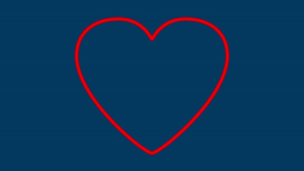 Valentin szív piros vonalak által rajzolt.