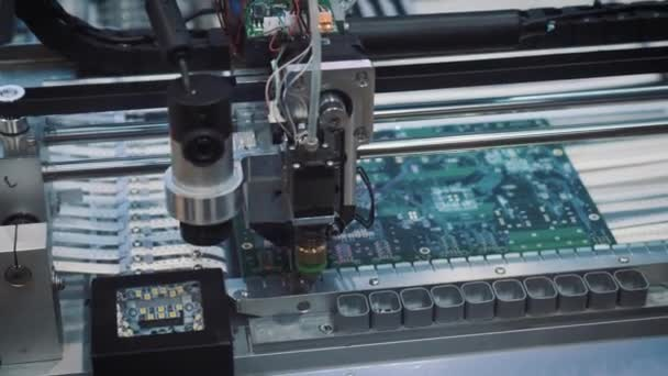 Surface Mount Technology Smt Machine places elements on circuit boards