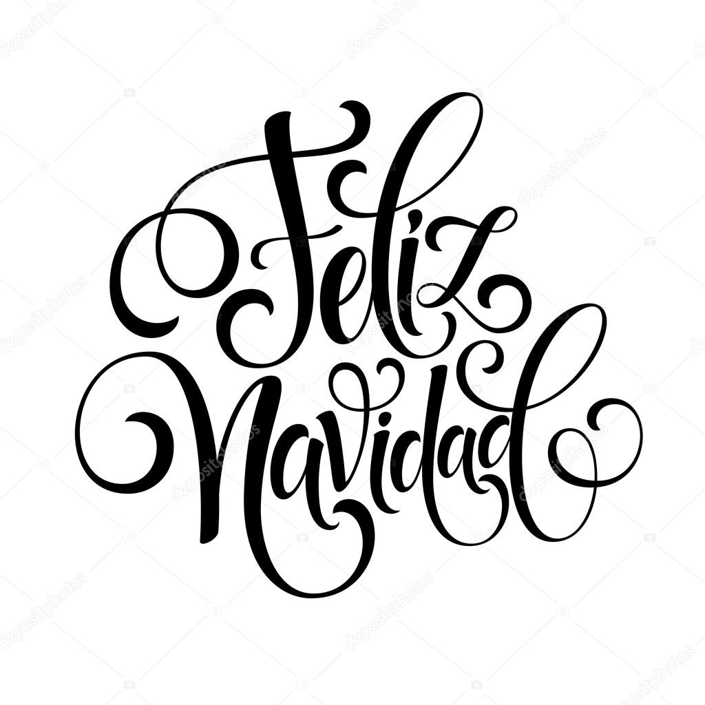 Feliz navidad hand lettering decoration text for greeting card feliz navidad hand lettering decoration text for greeting card design template merry christmas typography label m4hsunfo