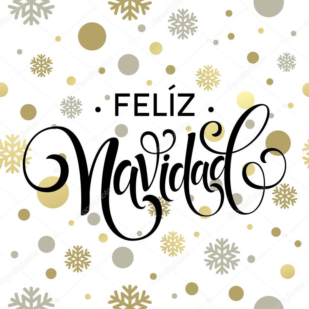 Feliz Navidad Hand Lettering Decoration Text For Greeting Card