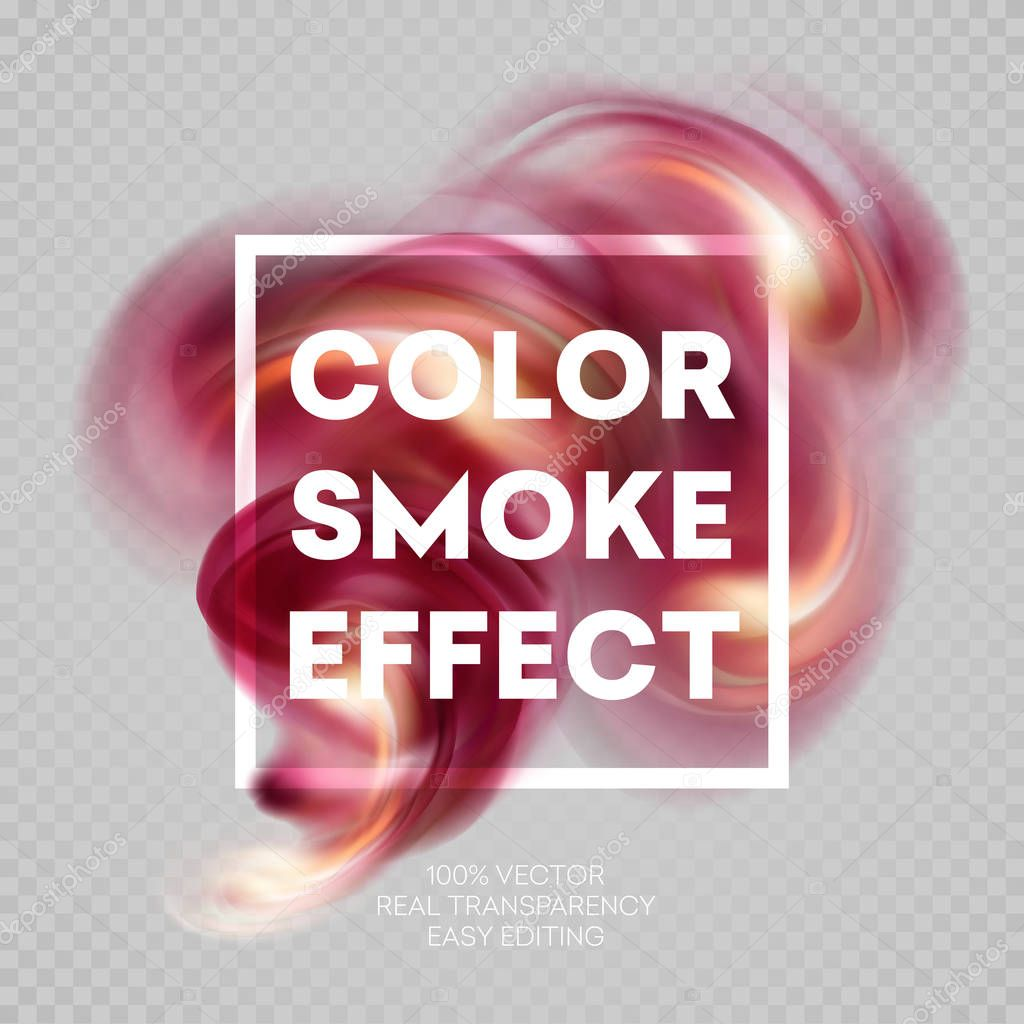 Colorful smoke on isolated background. Vector illustration