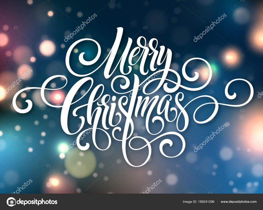 Frohe Weihnachten Handschrift Skript Schriftzug. Weihnachten Gruß ...