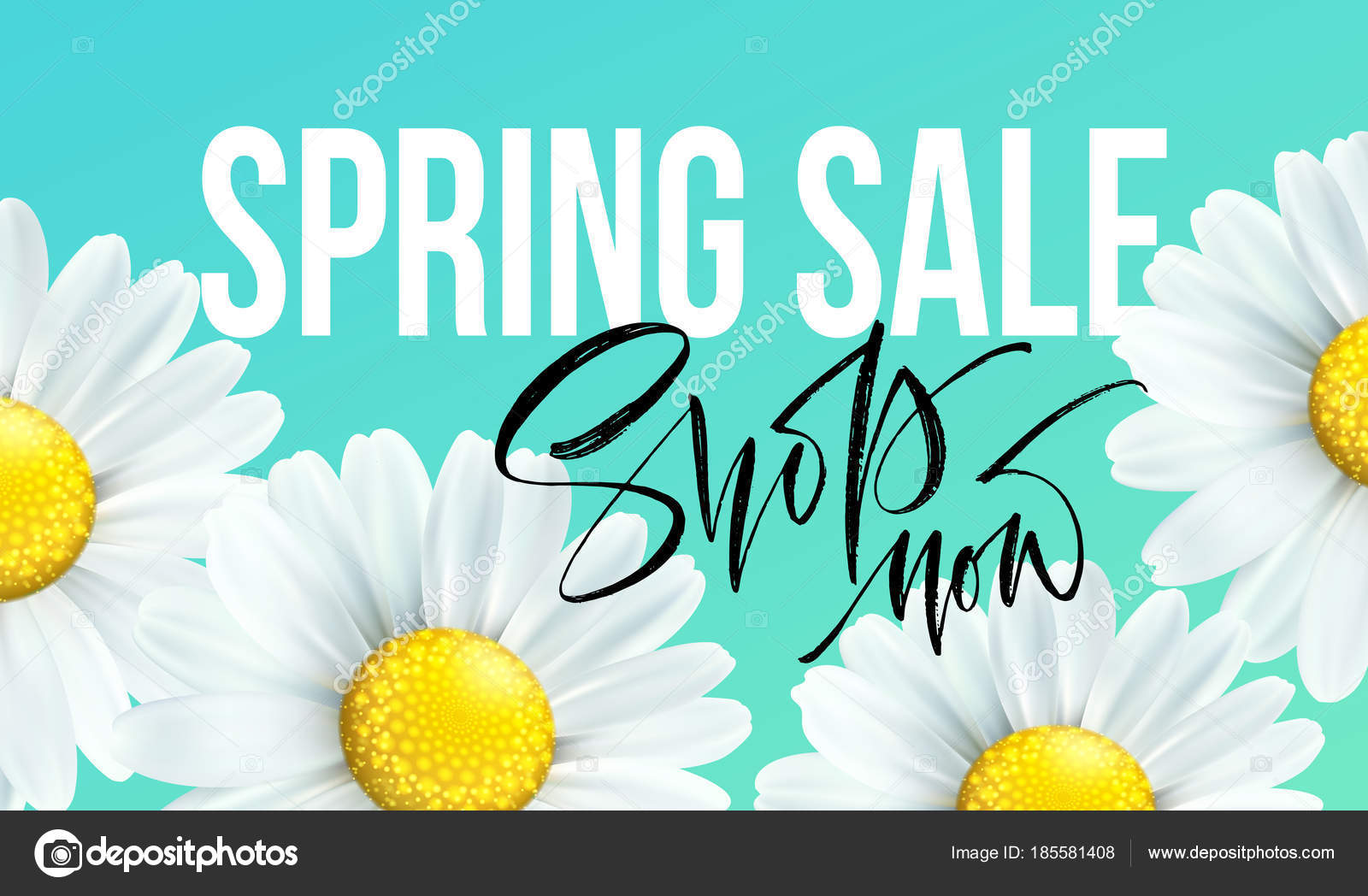 Spring sale banner background with daisy flowers seasonal discount spring sale banner background with daisy flowers seasonal discount vector illustration stock izmirmasajfo Images