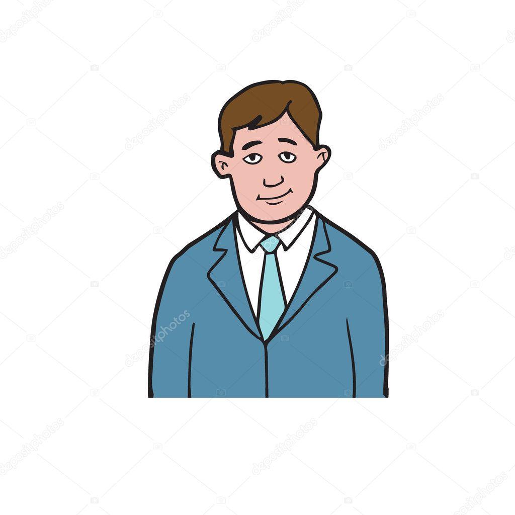 Takım Elbiseli Adam Karikatür çizim 2 Stok Vektör Tawesit At Gmail