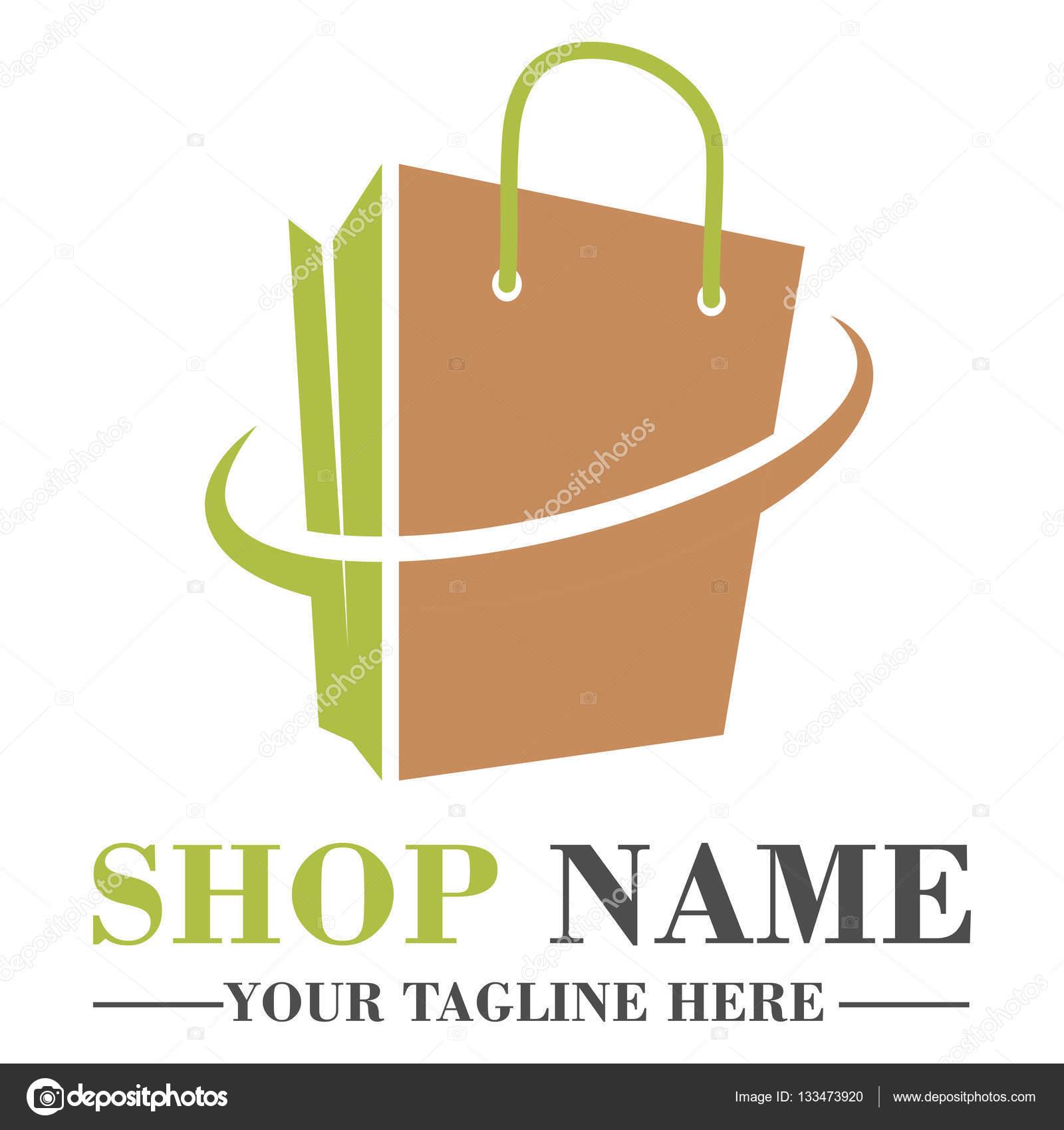 Online Shop Logo Template Design Stock Vector Helloweenn 133473920