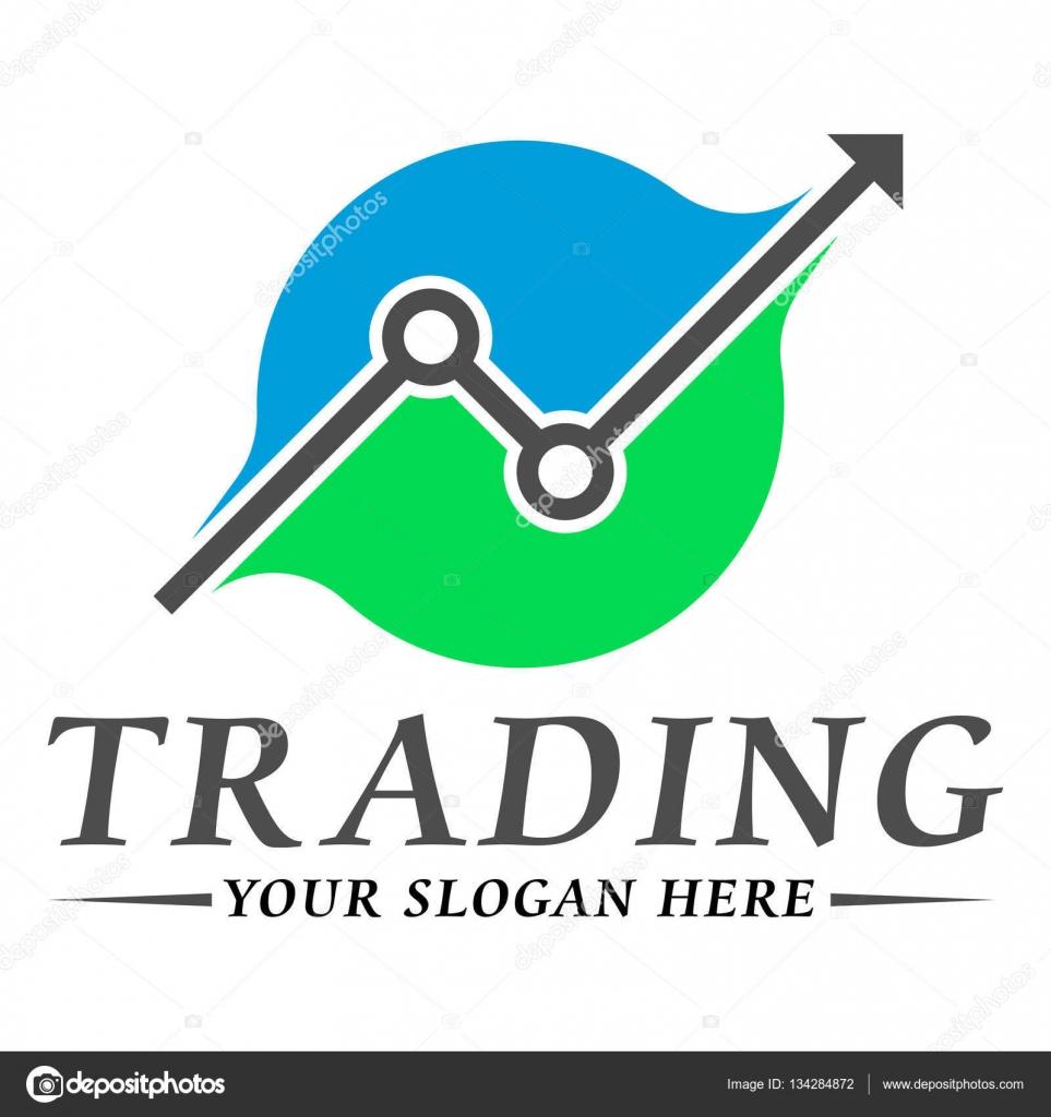Trading logo template design — Stock Vector © helloweenn ...