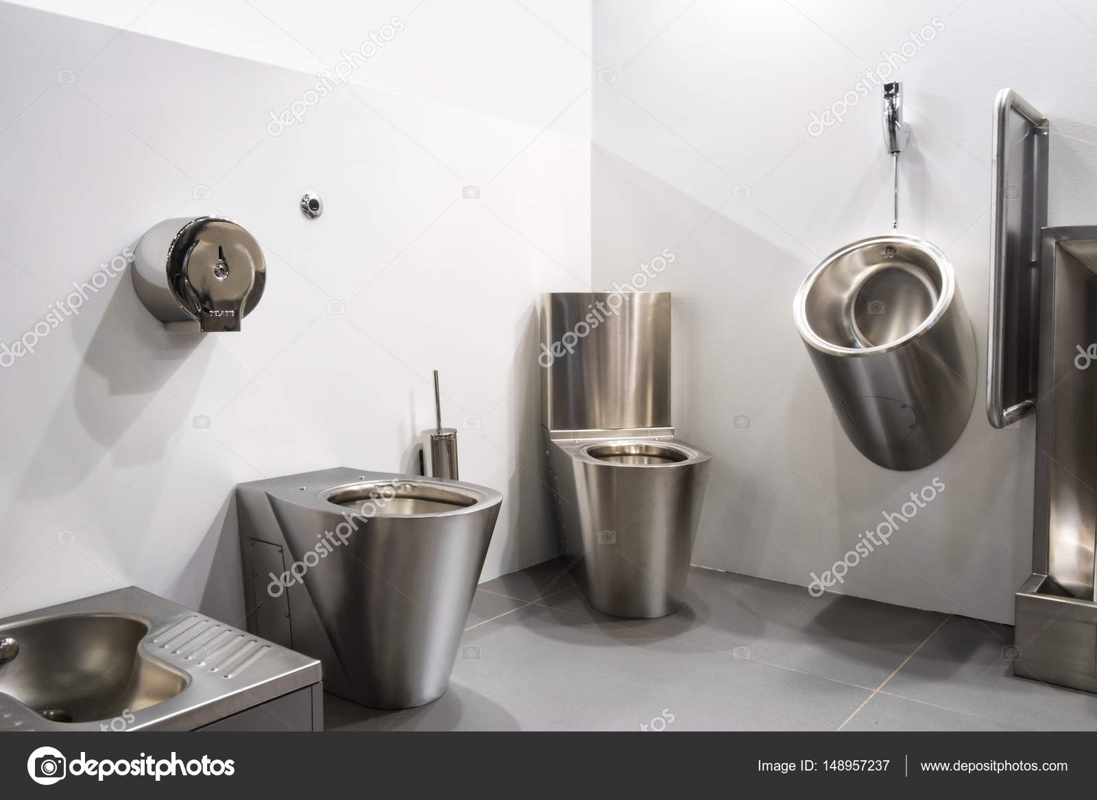 Lavandino bagno antivandalo lavandino wc ciotola in for Lavandino acciaio inox