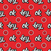 Hand drawn typography quotes hey, ok.