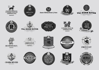 Retro  Emblems and Logotypes