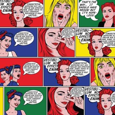 retro comic book background.
