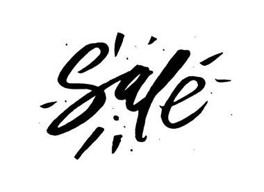 Sale - handwritten lettering