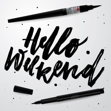 'hello weekend' typography for your designs