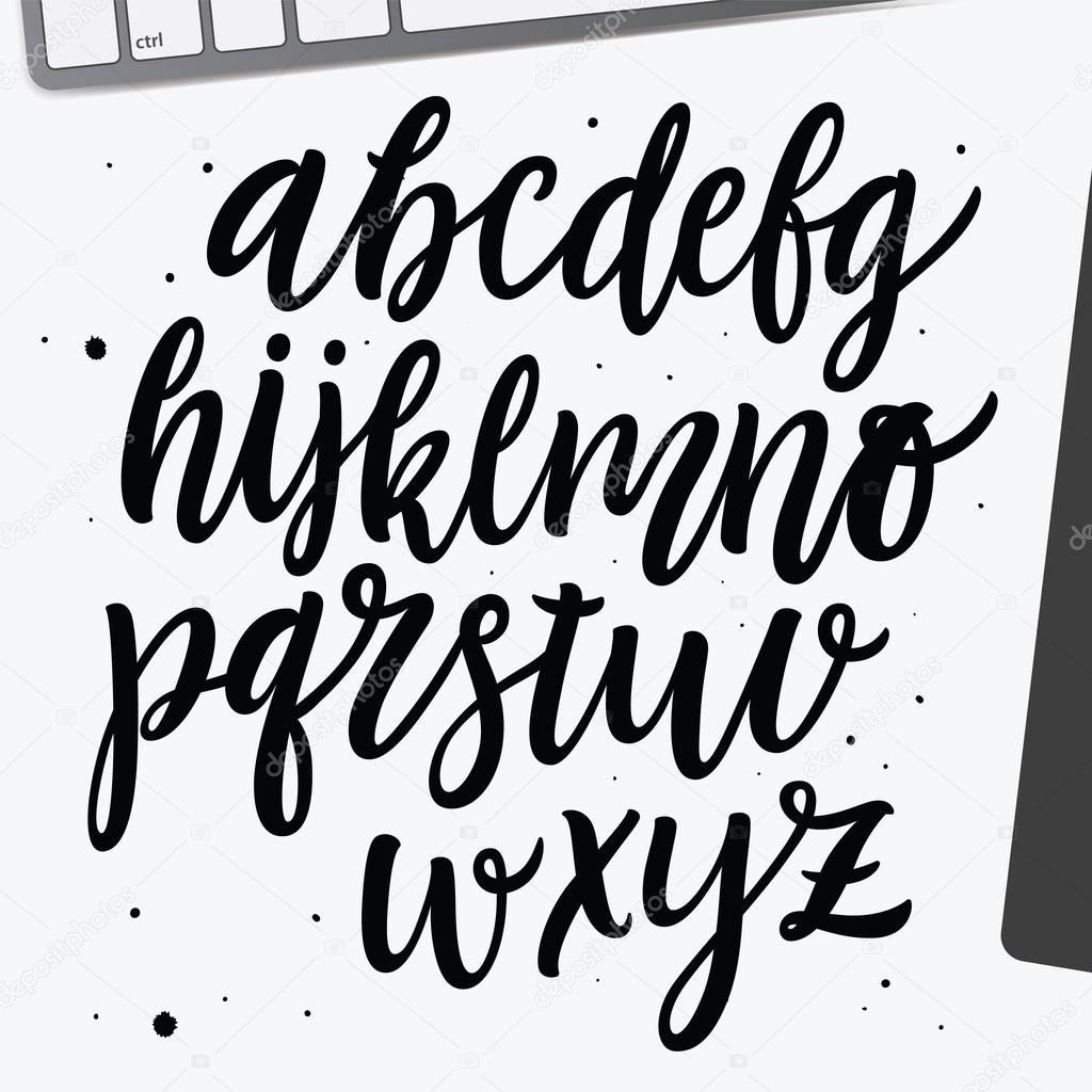 Hand drawn free style script font  — Stock Vector © verywell #130324600