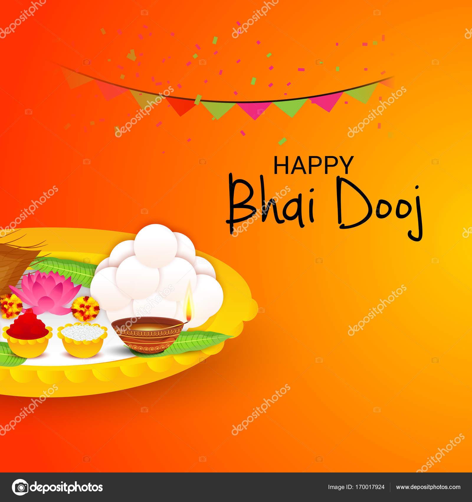 Happy Bhai Dooj Stock Vector Ssdn 170017924