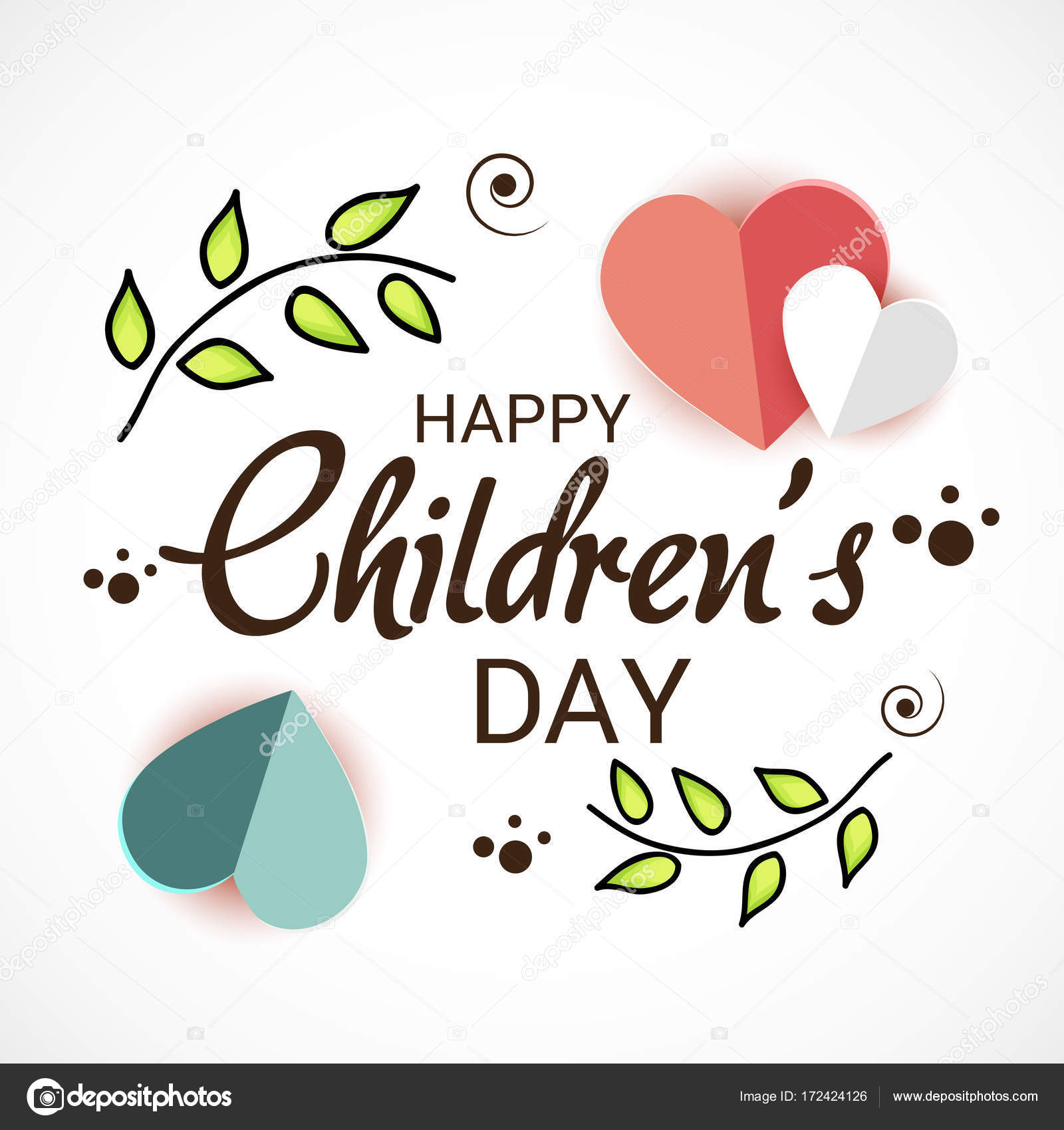 Día del niño feliz — Vector de stock © SSDN #172424126