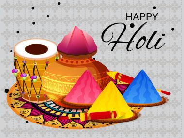 Vector illustration of a Background for Happy Holi.
