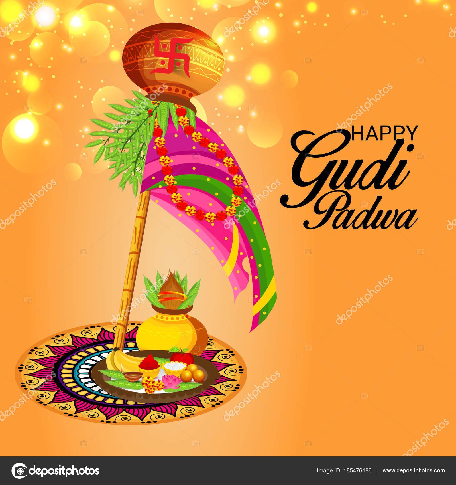 Happy Gudi Padwa Greetings Image Collections Greetings Card Design