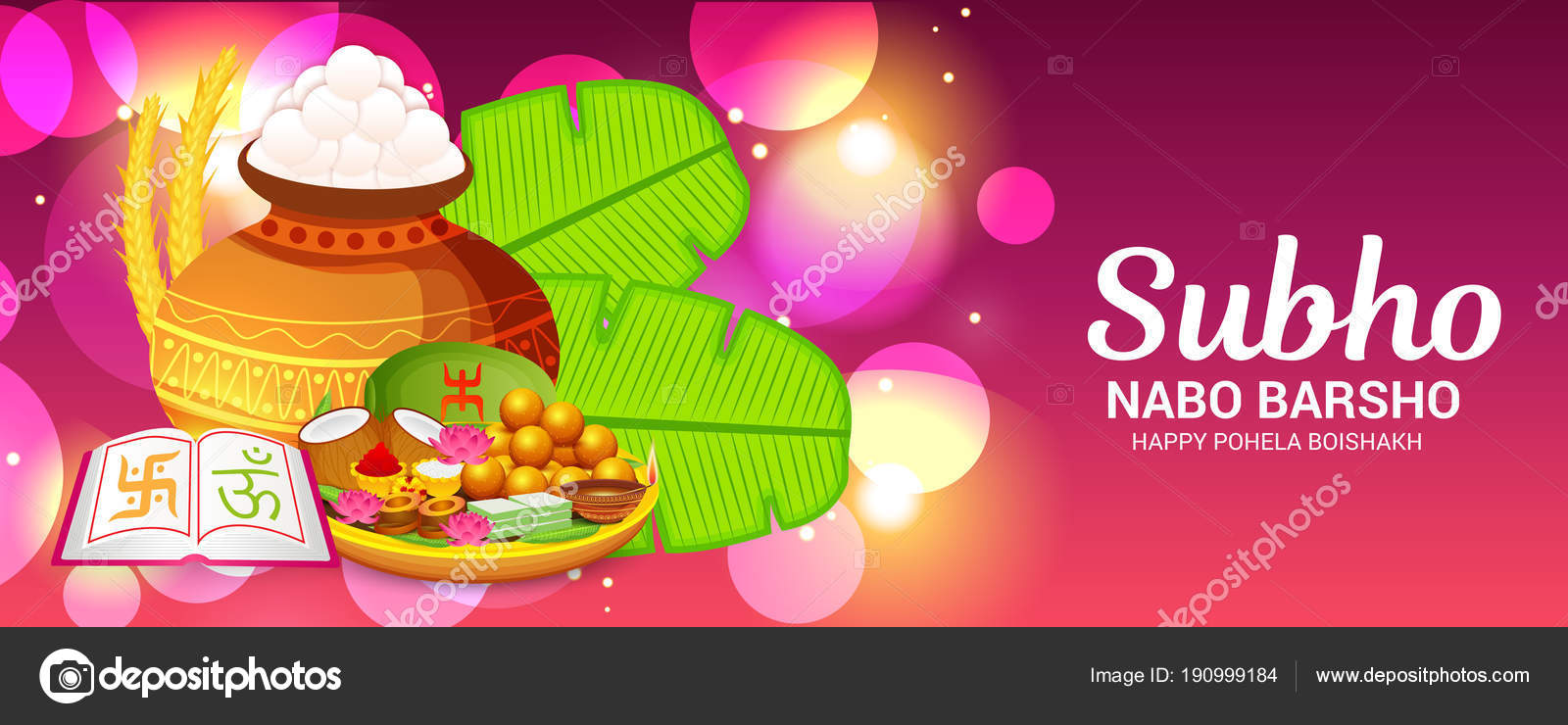 Vector illustration background bengali new year subho nabo barsho vector illustration of a background for bengali new year subho nabo barsho happy pohela boishakh vector by ssdn m4hsunfo