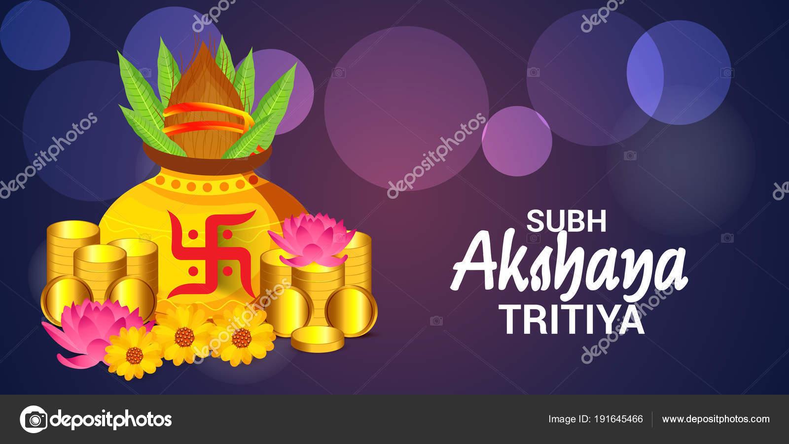Vector Illustration Creative Background Festival Akshaya Tritiya