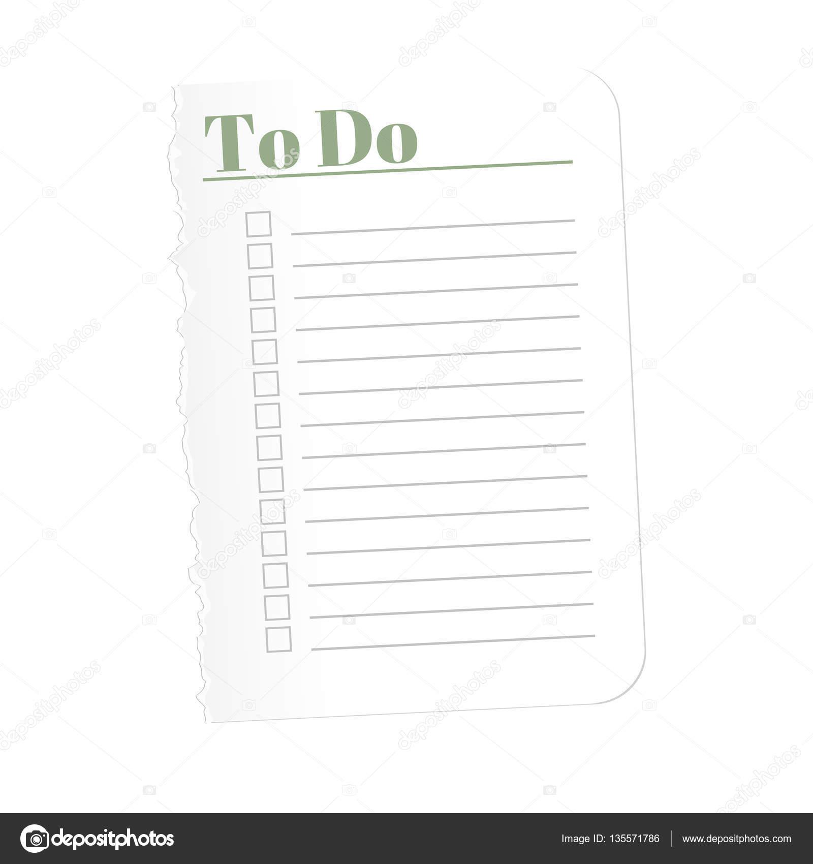 to do list sheet