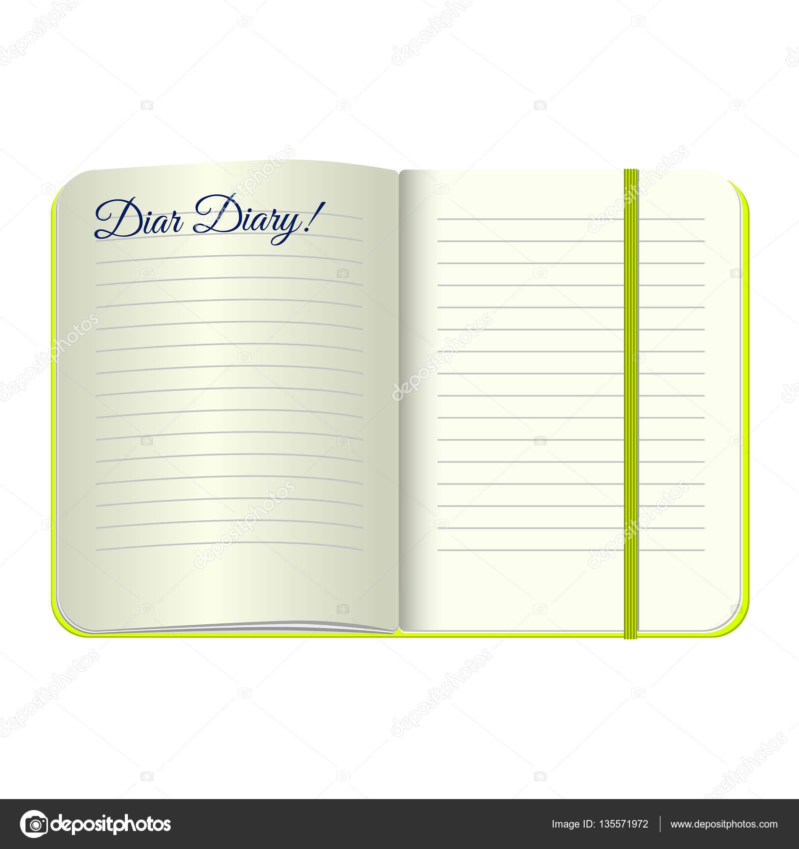 Vorlage öffnen Sie ein leeres Notepad mit den Worten Liebes ...