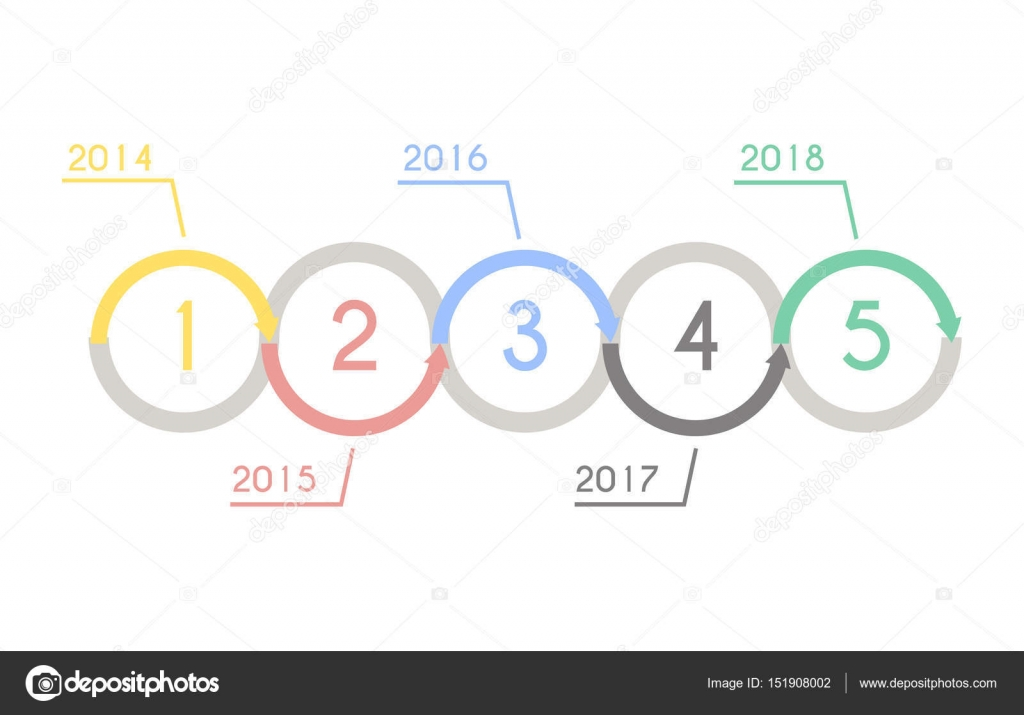 Progress chart statistic concept. Infographic vector template for ...