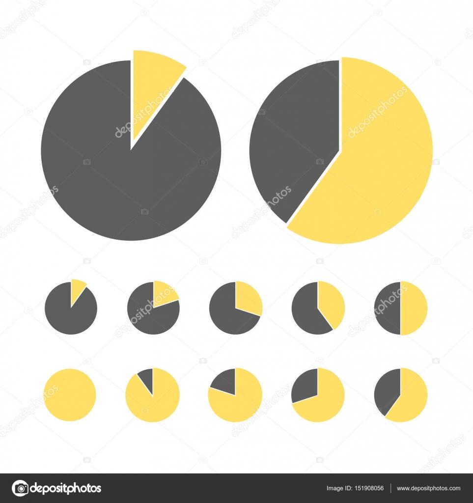 Pie Chart Statistic Concept Business Flow Process Diagram