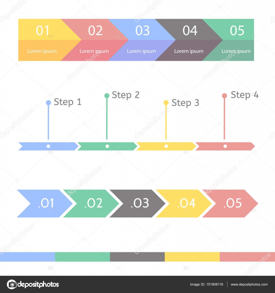Progress bar statistic concept business process step by step business process step by step infographic vector template for presentation timeline statistical chart vector by polovinkinalegmail cheaphphosting Choice Image