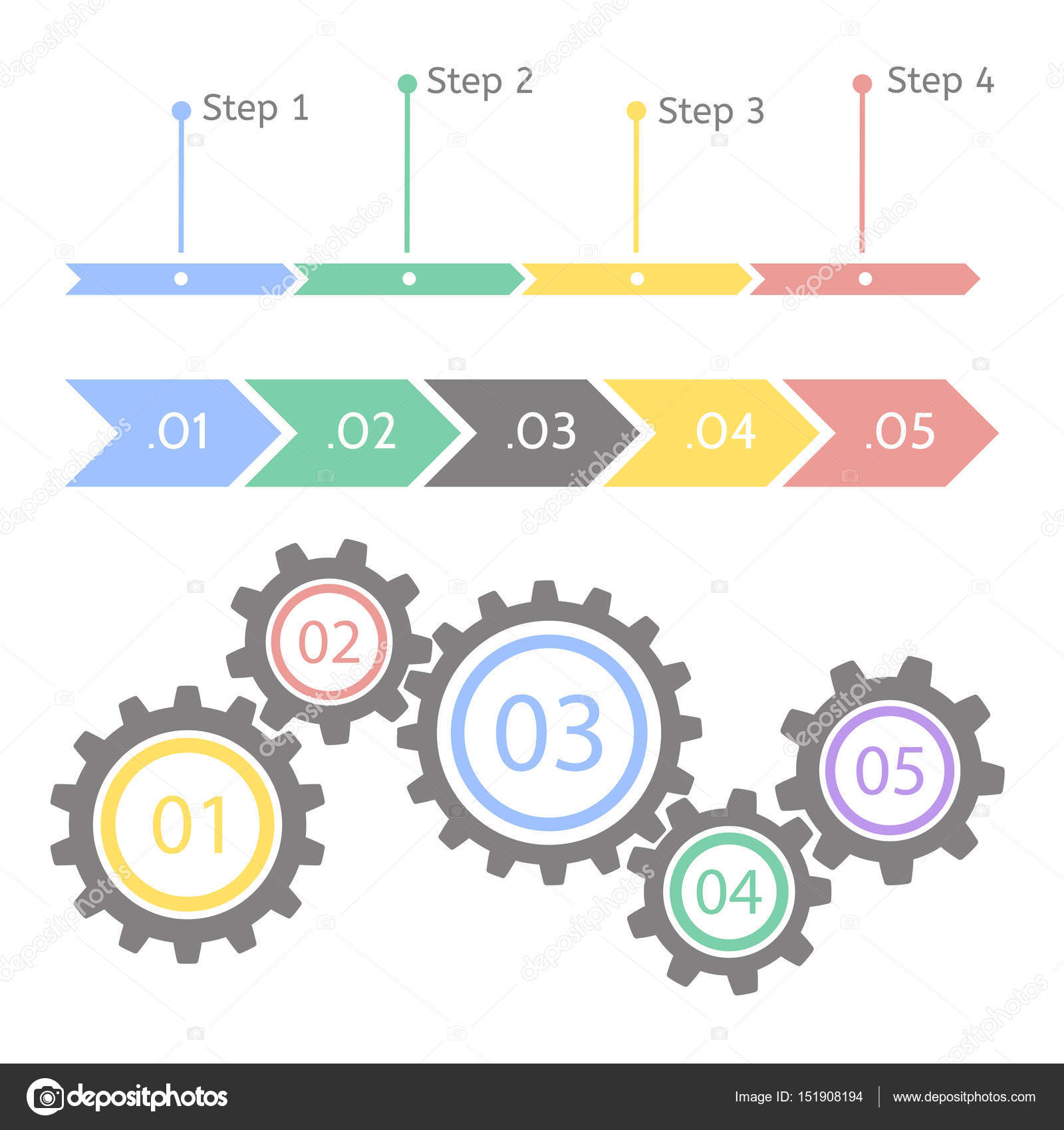 Progress Statistic Concept Infographic Vector Template For - Process timeline template