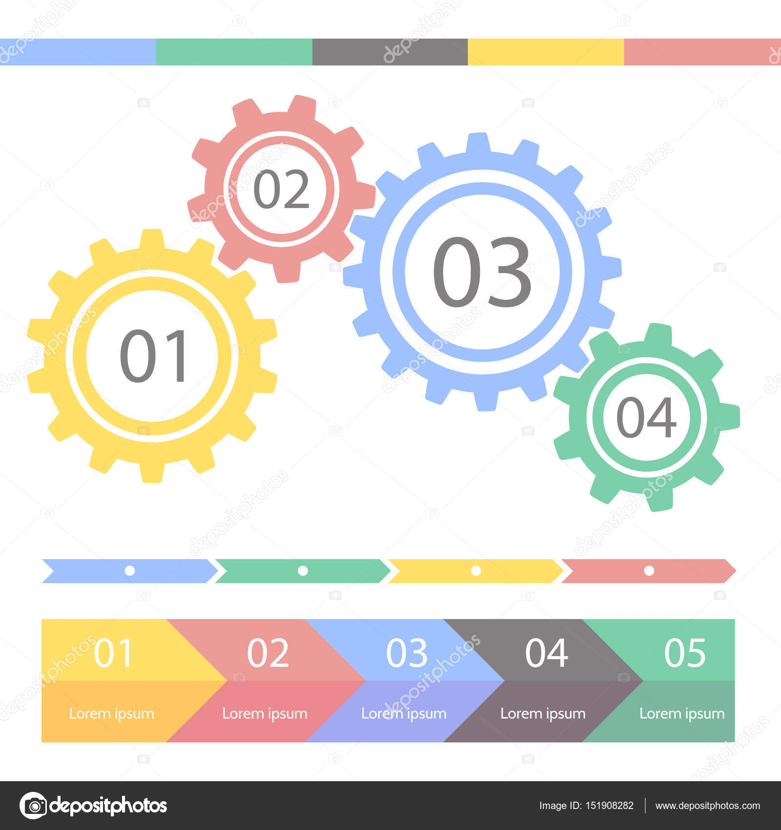 progress statistic concept. infographic vector template for