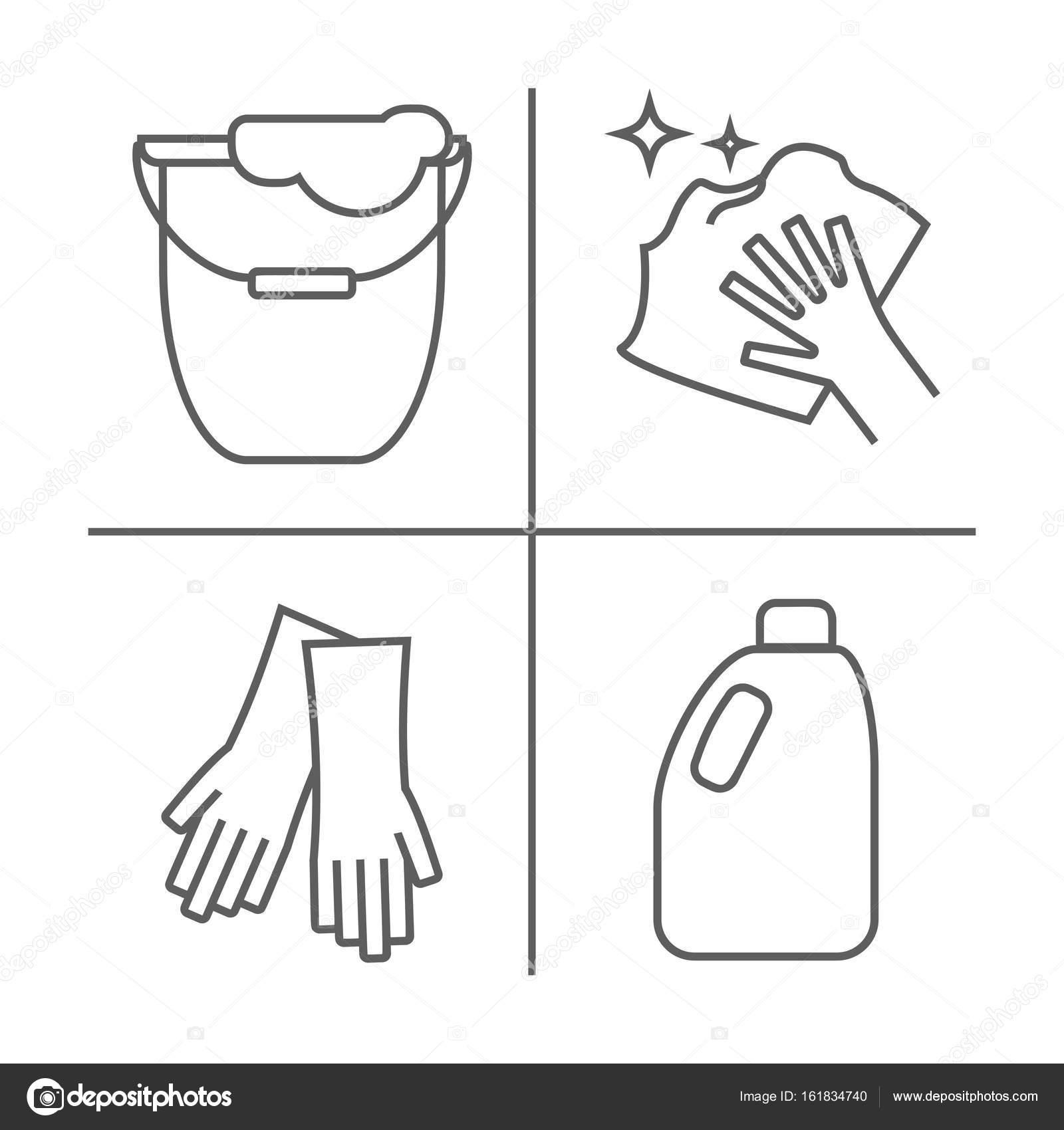 Imágenes Plancha Para Colorear Limpiar Lavar Los Iconos