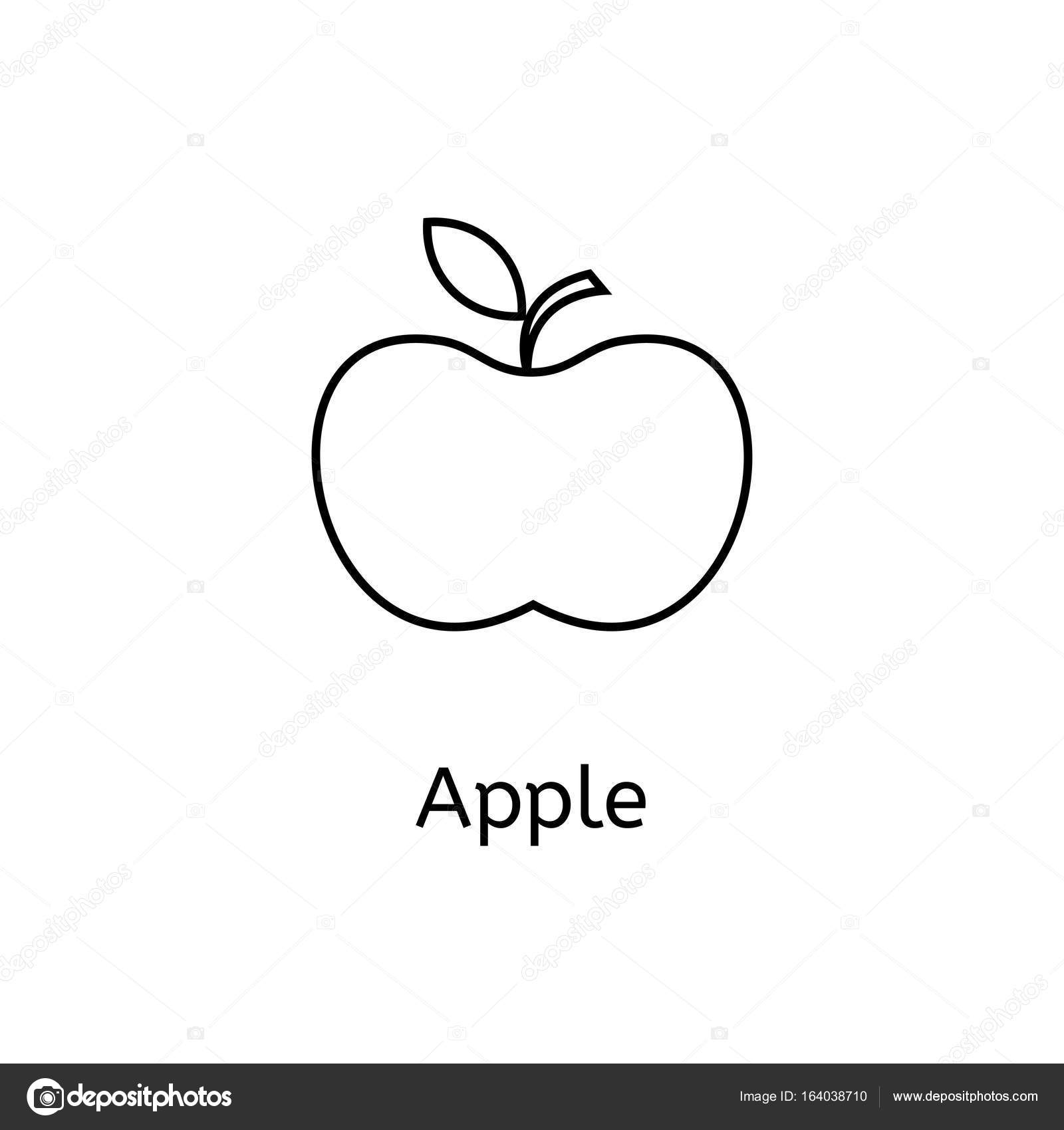 Apple icon line icon for infographic website or app outline apple icon outline symbol apple to design a website and mobile applications simple dental icons on white background photo by polovinkinalegmail buycottarizona
