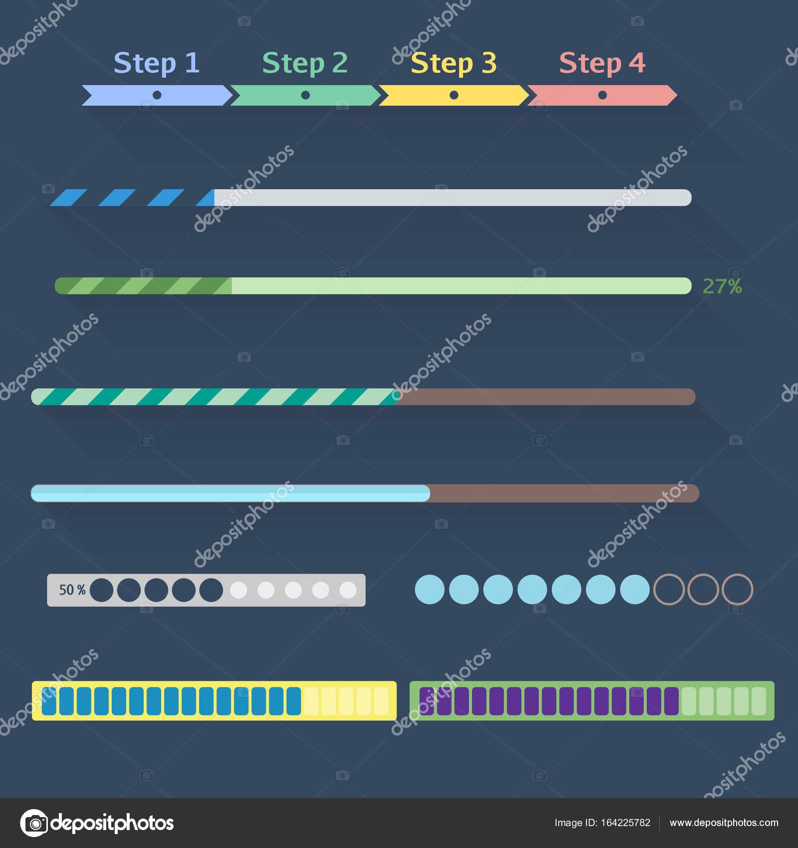 Conjunto de barras de progresso stock photo polovinkinalegmail conjunto de barras de progresso do plano de web design conjunto de vrios elementos usados para projetos de interface do usurio foto de ccuart Gallery