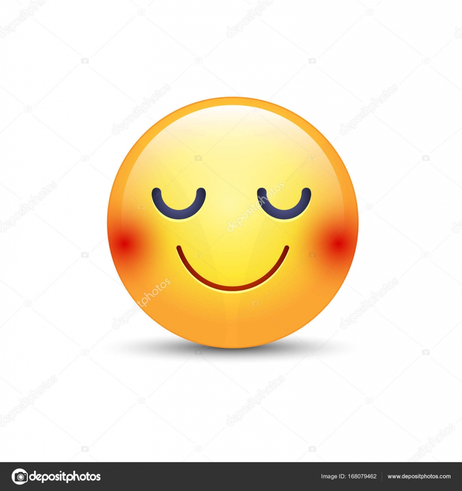 dessin anim heureux emoji visage aux yeux ferms sourire jaune mignon moticne smiley fun - Dessin Emoji