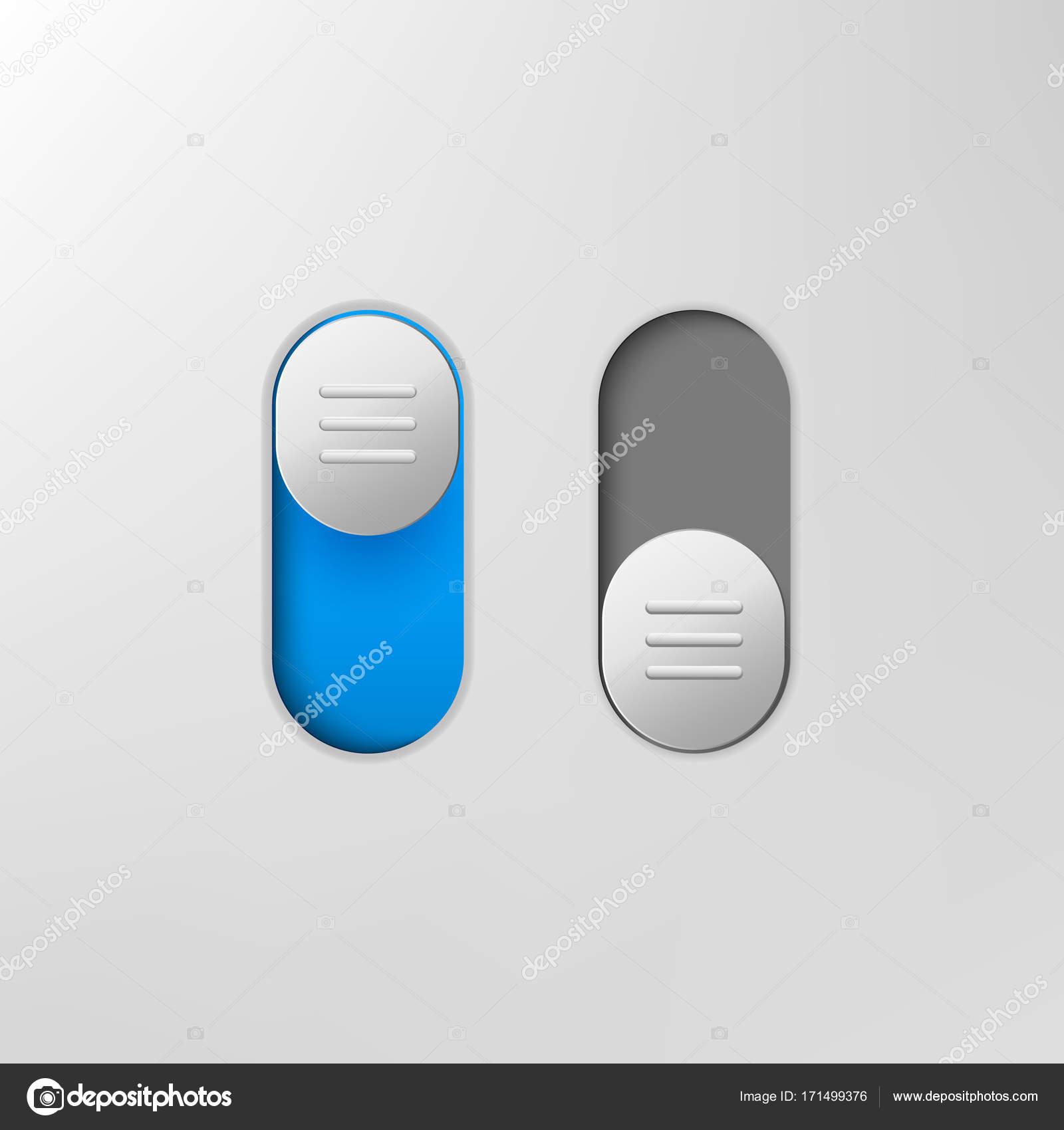Telefon-Schalter-Symbol. Auf aus-Schalter für Design-Anwendungen ...