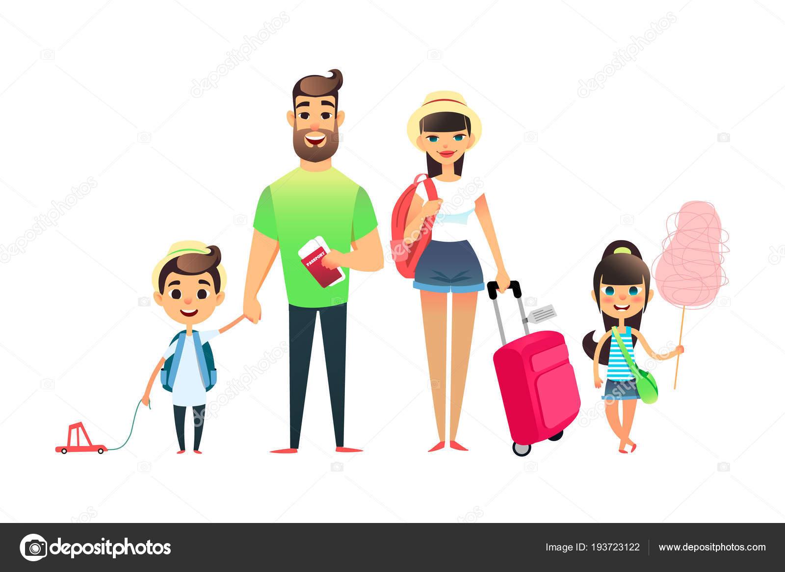 Imágenes Personas Viajando En Avion: Imágenes: Familia Viajando Animadas